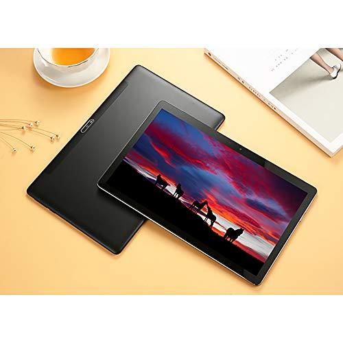 Tablet Android, Tablet PC 4G de 12 pulgadas, 8GB RAM 128GB ROM SSD 2560x1600 FHD IPS Helio X20 Soporte de procesador de 10 núcleos 4G Red y Llamada / Teclado Android 8.0, 7600mAh, GPS, Tipo-C,Negro