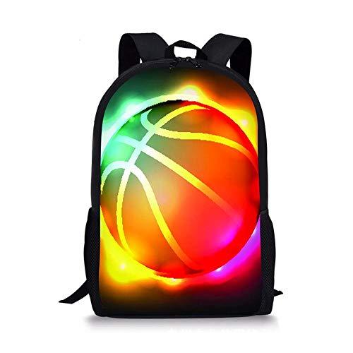 HUANIU Children's Backpack 3d Rugby Backpack Cartoon Ultra-light Student School Bag Shoulder Bag Travel Backpack Computer Bag Large Capacity C-15in * 10.7in * 4.2in
