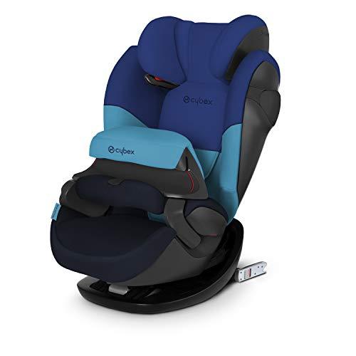 CYBEX Silver Siège Auto 2-en-1 Pallas M-Fix, Adapté aux Voitures Avec ou Sans Isofix, Groupe 1/2/3 (9-36 kg), De 9 Mois à 12 Ans Environ, Blue Moon