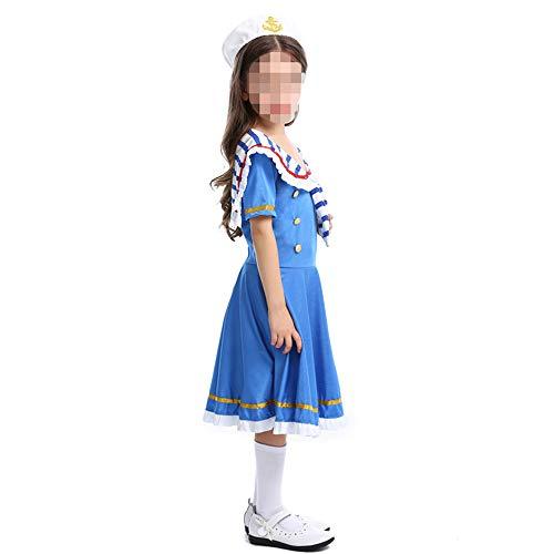 kMOoz Cosplay kostuum, halloween Outfit,kids Halloween Heks Fancy Adress Kostuum Cosplay Halloween Party,halloween kinderen kleine Royal Navy gemonteerd een dappere zeeman pak