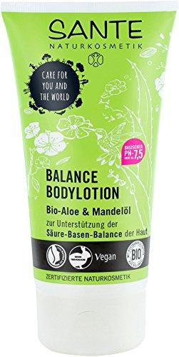 SANTE Naturkosmetik Balance Bodylotion, Fördert Säure-Basen-Balance der Haut, Vegan, Mit Bio-Aloe & Mandelöl, 2x150ml Doppelpack