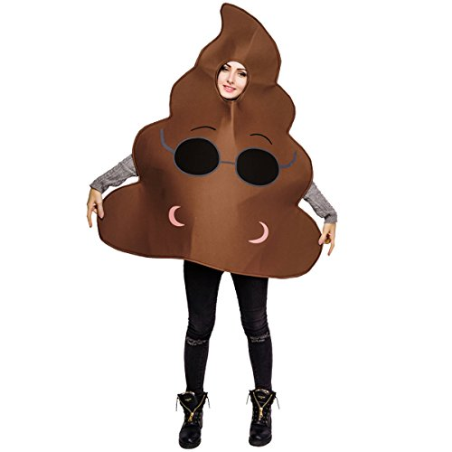 flatwhite Adult Unisex Emoticon Costumes Poop One Size Fit All (one Size, Anthomaniac)