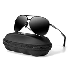 POLARIZED LENS - 100% UV400 eye protection effectively filter and block glares to protecting your eyes against UV damage and keeping your eyes healthy;The aviator sunglasses designed for driving fishing and all outdoor activities;High-definition lens...