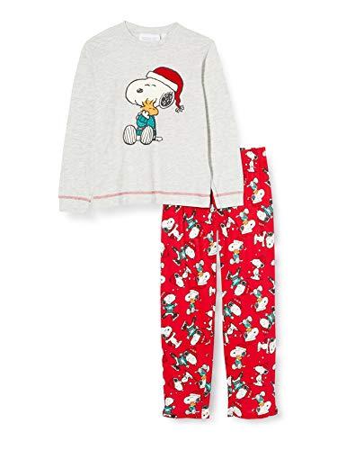Women' Secret Pijama Largo Kids Better Together Juego, Gris Claro/Plata, 3-4 (Pack de 2) Unisex niños