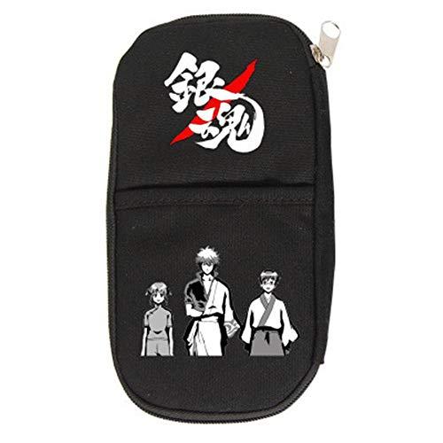 GYINGY Gintama Estuche de lápices personalizado para niños, estuche de papelería grande, organizador de accesorios escolares, estuche de lápices escolar bonito y divertido D-210mmx100mm