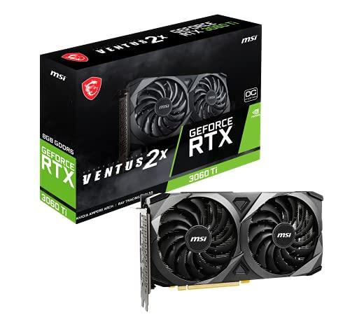 MSI Gaming GeForce RTX 3060 Ti LHR 8 GB GDRR6 256 bits HDMI/DP Nvlink Torx Fan 3 Ampere arquitecture OC tarjeta gráfica (RTX 3060 Ti...