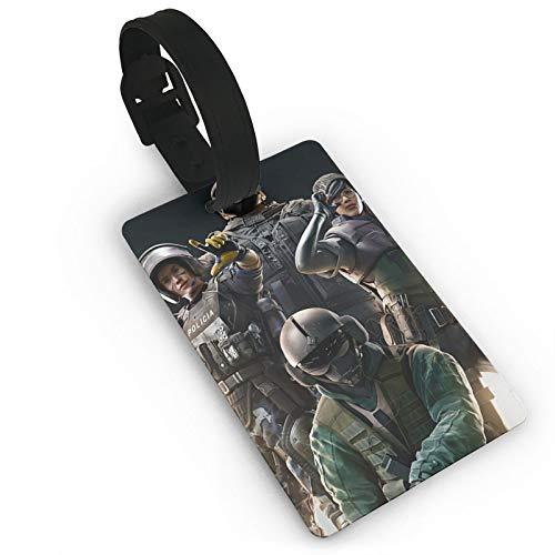 Etiquetas de equipaje Rainbow-Six-Siege para hombres y mujeres, etiquetas de maleta, etiquetas para bolsas de equipaje de identificación, etiquetas de accesorios de viaje, etiquetas de PVC
