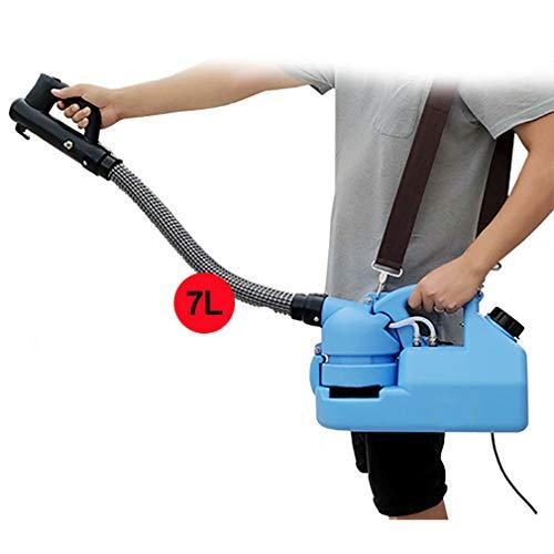 YPSM Inteligente Portátil Nebulizador,Eléctrico ULV Fogger,Mosquito Asesino,Desinfección Máquina Pulverizadora,Esterilización Fogger para Grandes Área Azul 7l