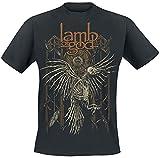 Lamb Of God Crow Hombre Camiseta Negro XXL, 100% algodón, Regular