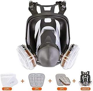 Full Face Respirator- Double Air Filter Cartridge Industrial Grade Respirator Mask For Organic Vapor Dust Paint