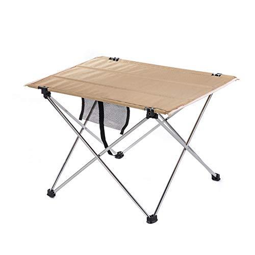 ZA ultralichte inklapbare campingtafel, draagbare compacte oprolbare campingtafel met draagtas voor kamperen buiten, picknick voor wandelen, kleine tafel van aluminiumlegering