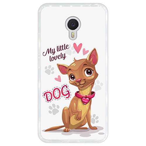 Hapdey Funda Transparente para [ Meizu m3 Note ] diseño [ Perrito Chihuahua Lindo - My Little Lovely Dog ] Carcasa Silicona Flexible TPU