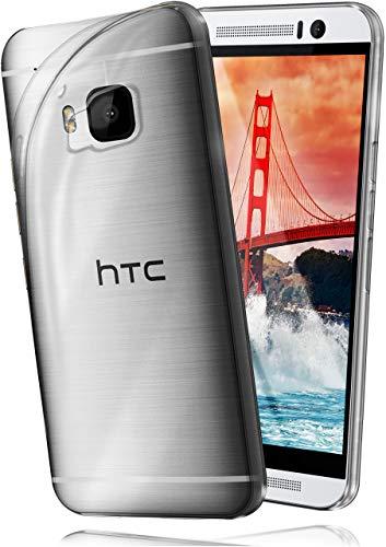 moex Aero Hülle kompatibel mit HTC One M9 - Hülle aus Silikon, komplett transparent, Klarsicht Handy Schutzhülle Ultra dünn, Handyhülle durchsichtig einfarbig, Klar