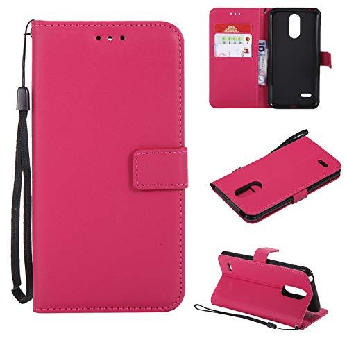 TTUDR Leder Wallet Case für LG K8 (2017) / US215 Wallet Flip Case mit Ständer Kartenfächer Magnetverschluss Schutzhülle für LG K8 2017 - TTMS020856 Hot Pink