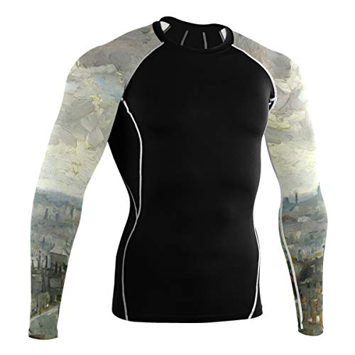 Fantazio Van Gogh Paris T-shirt à manches longues pour vélo de montagne et vélo de route - - XXL