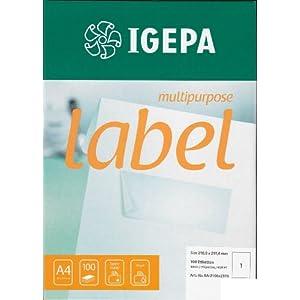 100 hojas A4 (papel transparente OHP) para impresoras de inyección ...