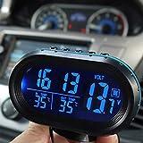 2 en 1 12 V / 24 V Numérique Auto Voiture Thermomètre + Batterie De Voiture Voltmètre Tension...