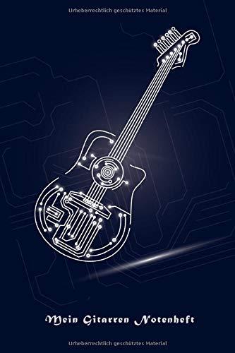 Mein Gitarren Notenheft: Gitarren Notenbuch für Gitarristen die eigene Songs machen. Songs schreiben leicht gemacht. 50 Seiten