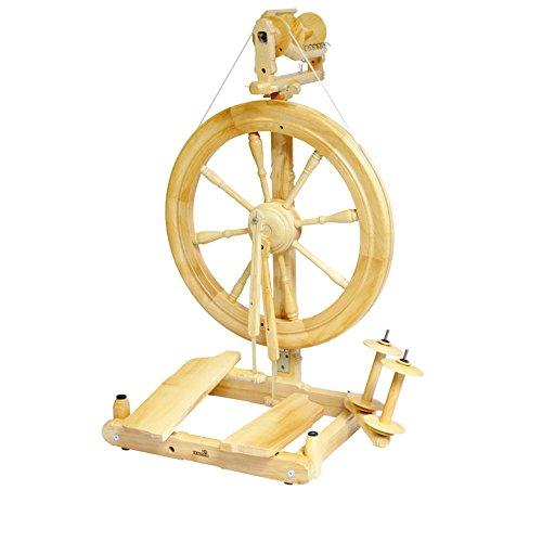Kromski Sonata Reisespinnrad Spinnrad zum Spinnen von Wolle Spinnen Hobby (Lackiert)