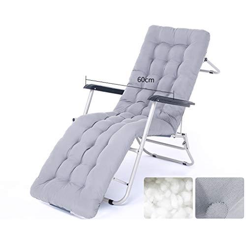 Chaise longue pliante Pause déjeuner Chaise de plage Cool Balcon Chaise Siesta Bed Bureau Dos Lazy Chair Lit pliant Extra épais Square Renfort de tube (Couleur : Round tube)
