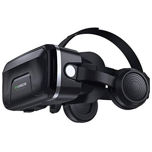 3D VR Gafas de Realidad Virtual, Gafas VR para Juegos Visión Panorámico 3D Juego Immersivo para iPh X/7/6s 6/Plus, Galaxy s8/ s7con...