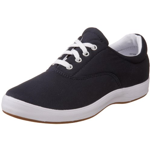 Grasshoppers Women's Janey Twill Lace-Up Sneaker,Navy/White,5 M US