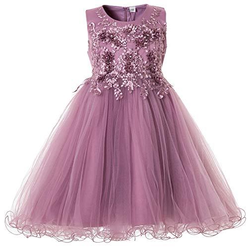 CIELARKO Mädchen Kleid Prinzessin àrmellos Blumen Hochzeits Festzug Kleid Blumenmädchen Kleider,...