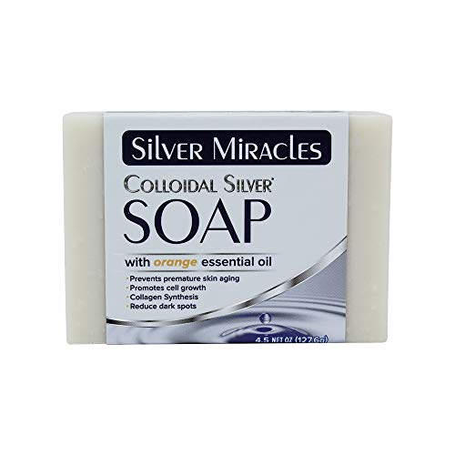 Silver Miracles Colloidal Silver Soap with Orange essential oil