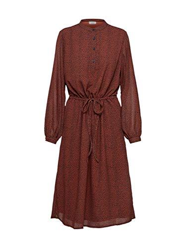 ICHI Damen Blusenkleid Viktoria rot S (36)