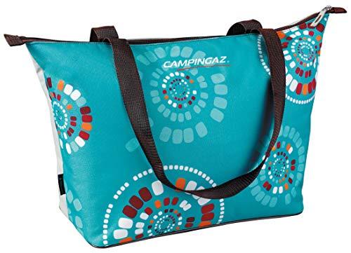 Campingaz Ethnic MiniMaxi Koeltas, 15 liter, isolatietas met schouderriem, koelt tot 10 uur, opvouwbare isotherapetas voor winkelen, camping of als picknicktas