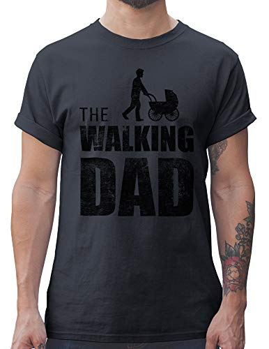 Shirtracer The Walking Dad Herren T-Shirt und Männer Tshirt (XL, Dunkelgrau)
