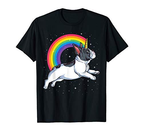 French Bulldog Unicorn Shirt Girls Space Galaxy Frenchicorn T-Shirt