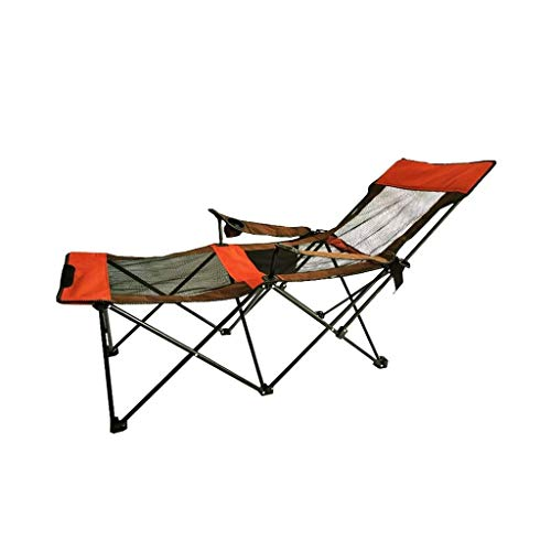 ALIPC Decorative Stool -Portable Lounge Chair, Lazy Chair Outdoor Chair Garden Chair Balcony Chair Comfortable Breathable Nap Chair Size: 5275175CM Foldable