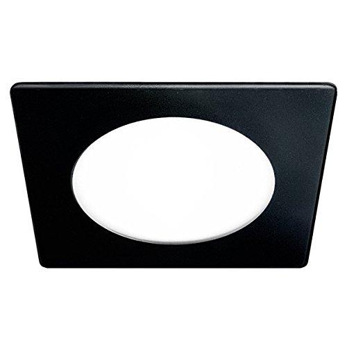 Wonderlamp Downlight led extraplano cuadrado con cristal decorativo negro. Driver incluido. Potencia:20W, 20 W, 15 x 15 x 2,3 cm