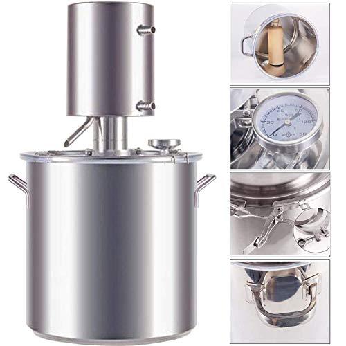 JIXIN Moonshine Still Alambique Espíritus Alcohol Aceite Esencial Destilador De Agua 304 Acero Inoxidable Kit para Hacer Vino Caldera De Aceite (3Gallon / 12L)