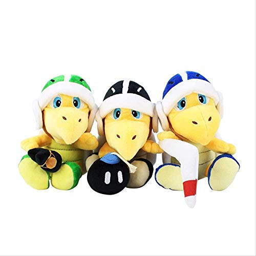 N/Z Super Mario Bros Plush Koopa Troopa Hammer Boomerang Stuffed Plush Toys Doll Kids Gifts 3 Pcs 18 cm