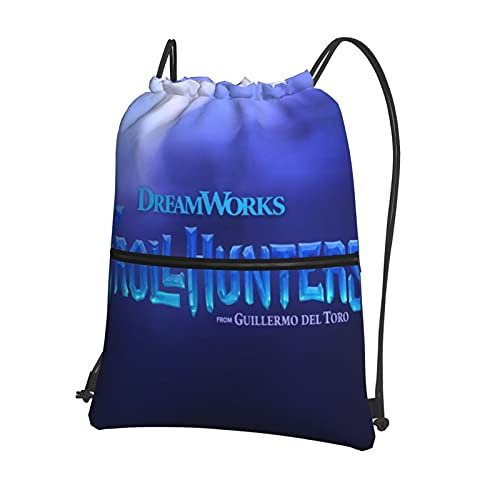 Trollhunter - Mochila con cordón para gimnasio, impermeable, bolsa de natación, bolsa de baloncesto, deportes, gimnasio, viaje, playa, para adolescentes,niños, niñas, hombres, mujeres con cremallera
