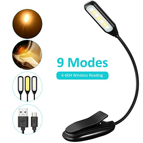 TOPELEK Lampe de Lecture Lampe Liseuse 7 LED, 3 Modes de Température...