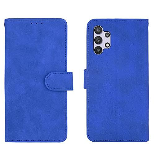 Cubierta de la caja del tirón del teléfono Caja de la billetera para Samsung Galaxy A32 4G, cartera de cuero PU con titular de la tarjeta de la tarjeta de la tarjeta de pulsera cubierta protectora a p