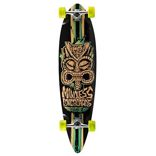 Mindless Longboards ML1120, Skateboard Unisex – Adulto, (Nero/Verde), Taglia Unica
