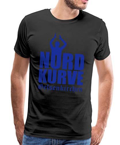 Nordkurve Gelsenkirchen Fan Männer Premium T-Shirt, XL, Schwarz