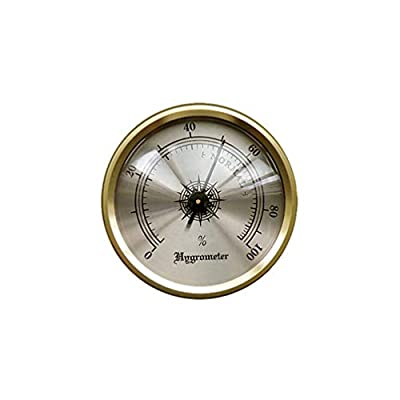 Prestige Import Group HY134 Hygrometer with Brass Frame, 1-3/4-Inch