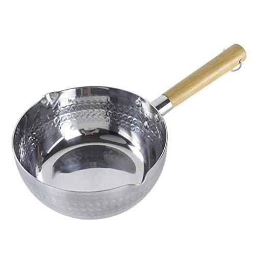 Aluminium steelpan met houten handvat, Melkpan anti-aanbakpan zonder deksel voor keuken Koken Soep Stoofpot Saus Pasta