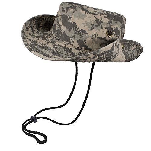 Bucket Hat Hiking Fishing Wide Brim UV Sun Protection Safari Unisex Boonie (Desert Camo, Large/X-Large)
