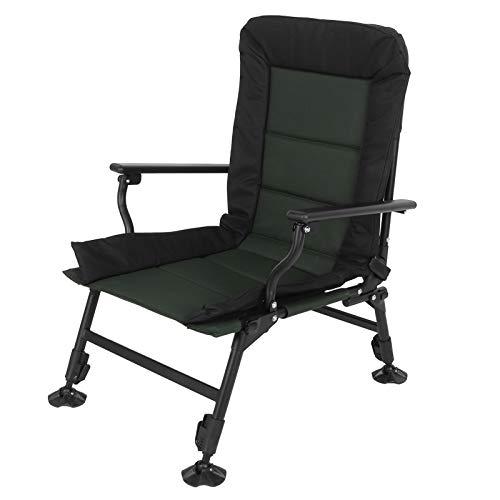 Cikonielf - Sillas de camping, silla de playa mixta, silla plegable regulable en altura 0-180 grados ajustable con marco de tubo de acero, 58,5 x 60 x 92 cm, carga 150 kg