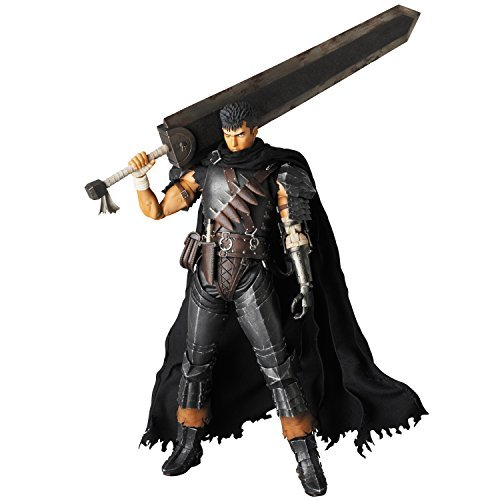 Berserk Golden Age Arc RAH Action Figure Guts Black Swordsman Ver. 30 cm by Medicom