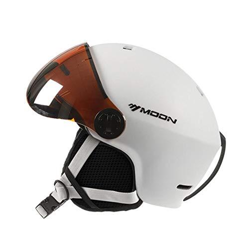 Casco Deportivo,Casco De Esquí con Gafas Casco De Snowboard Integrado para Deportes De Nieve, Casco De Esquí con Visera 2 En 1 Casco De Snowboard para Adultos Unisex