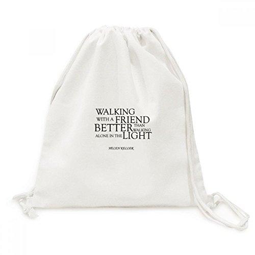 DIYthinker Zitat über Freundschaft von Helen Keller Canvas Rucksack-Reisen Shopping Bags