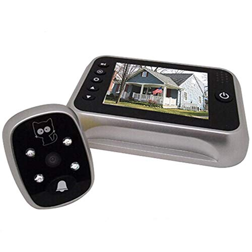 digitsea electronic video peephole viewer doorbell camera 3.5 inches TFT LCD screen/w 8G Memory MicroSD Storage Card Night vision wide angle/Video Record/Photo shooting