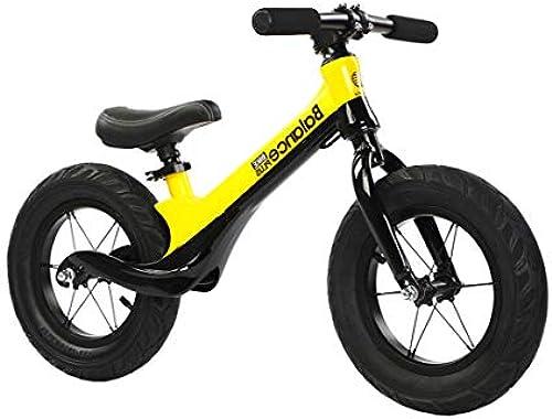 Kinder Laufrad Magnesiumlegierung Ultraleicht Kein Pedal Lauflernrad Kinderrad, 12 Zoll Einstellbare Sport Kinderlaufrad für 2-6 Jahre alt,Gelb